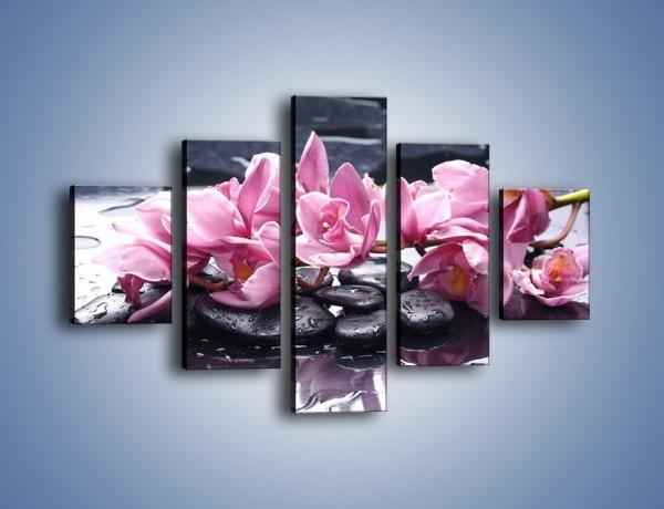 Obraz na płótnie – Rzucone kwiaty na wodę – pięcioczęściowy K997W1