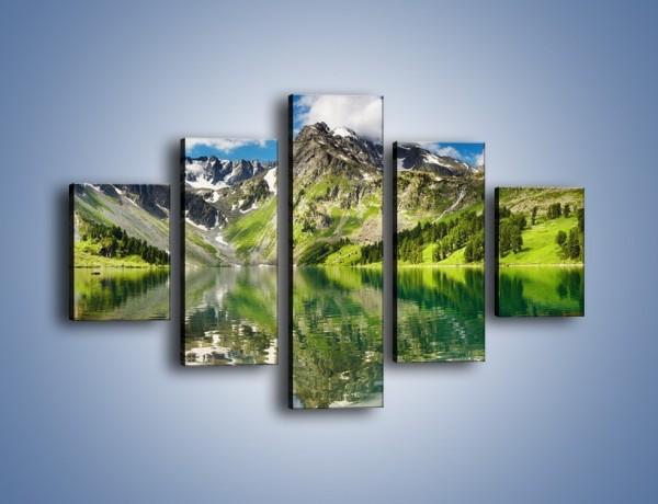 Obraz na płótnie – Góry w wodnym lustrze – pięcioczęściowy KN010W1
