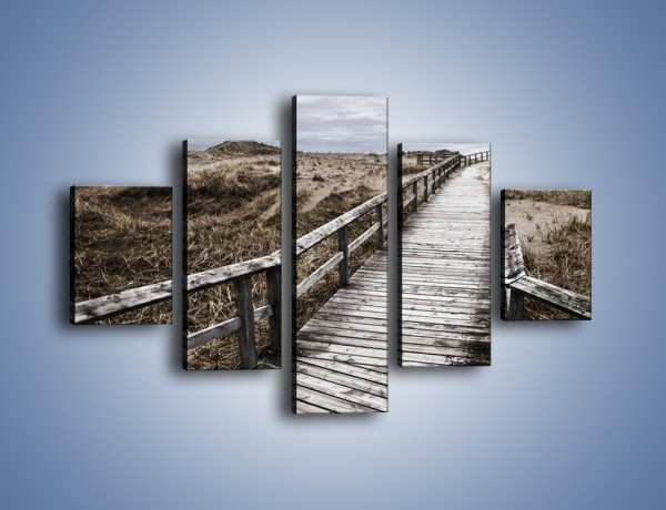 Obraz na płótnie – Szary most do nieba – pięcioczęściowy KN031W1