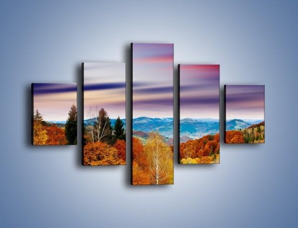 Obraz na płótnie – Drzewa w kolorach jesieni – pięcioczęściowy KN099W1