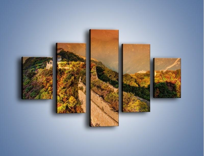 Obraz na płótnie – Zarośnięty krety most – pięcioczęściowy KN1020W1