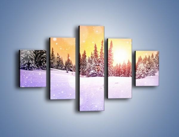 Obraz na płótnie – Pada pada śnieg – pięcioczęściowy KN1027W1