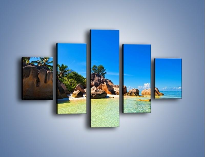 Obraz na płótnie – Bezludna wyspa i ja – pięcioczęściowy KN1058W1