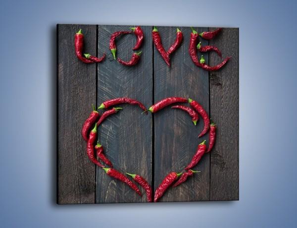 Obraz na płótnie – Ostra miłość do czerwonego – jednoczęściowy kwadratowy JN611