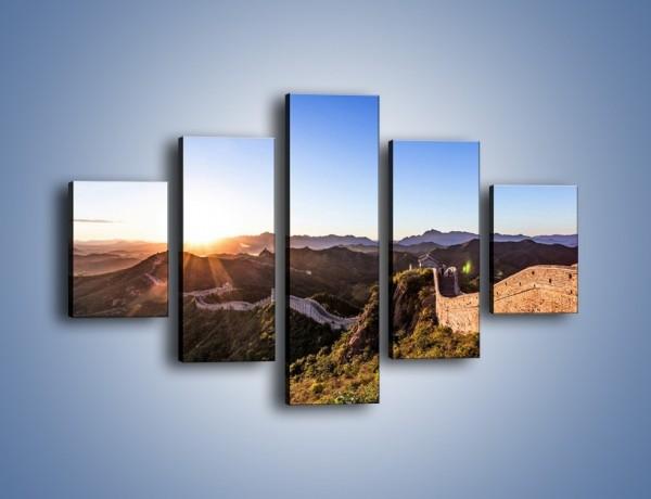 Obraz na płótnie – Za górami za lasami – pięcioczęściowy KN1084AW1