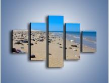 Obraz na płótnie – Całe morze kamyczków – pięcioczęściowy KN1086AW1