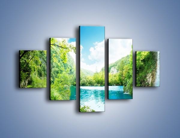 Obraz na płótnie – Krajobraz jak malowany – pięcioczęściowy KN1088W1