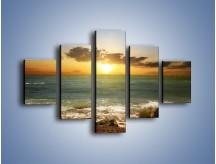Obraz na płótnie – Brzegiem w stronę morza – pięcioczęściowy KN1092AW1