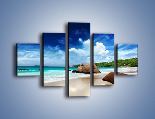 Obraz na płótnie – Plaża niczym biały puch – pięcioczęściowy KN1106AW1