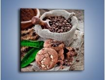 Obraz na płótnie – Ciasteczka idealne do kawy – jednoczęściowy kwadratowy JN614