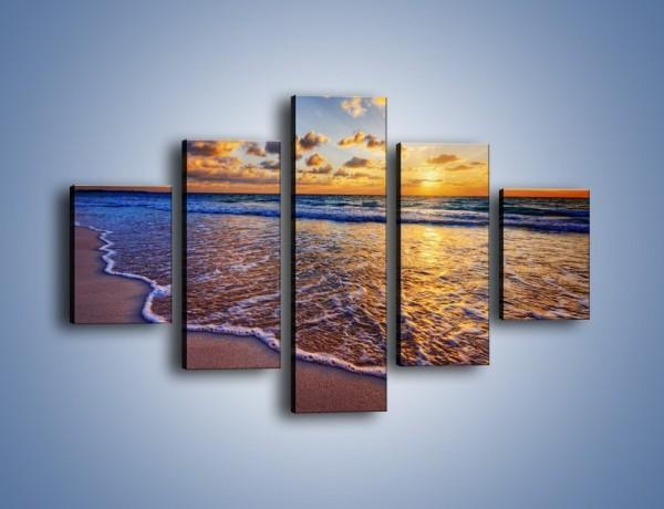 Obraz na płótnie – Piana i gładki piach – pięcioczęściowy KN1123AW1