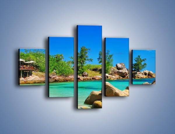Obraz na płótnie – Pocztówka z wakacji – pięcioczęściowy KN1160AW1