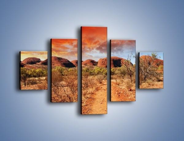 Obraz na płótnie – Czerwona ziemia jak w afryce – pięcioczęściowy KN1169AW1
