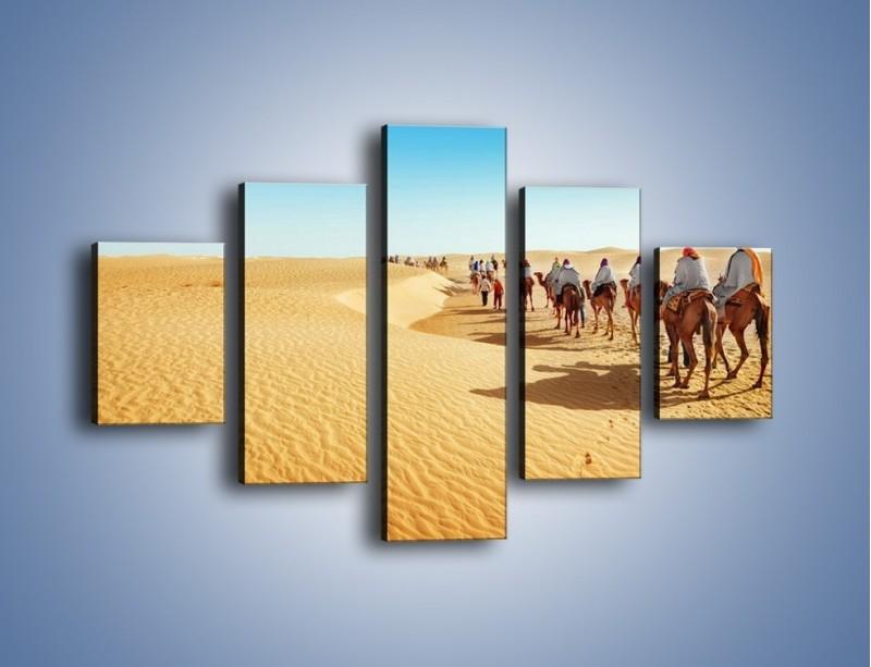 Obraz na płótnie – Szła karawana przez pustynię – pięcioczęściowy KN1173AW1