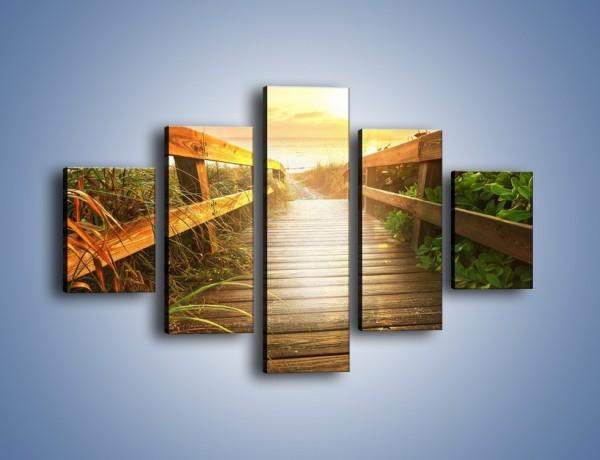 Obraz na płótnie – Przejechać przez mostek – pięcioczęściowy KN1176AW1