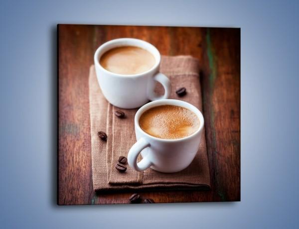 Obraz na płótnie – Kawa nie tylko we dwoje – jednoczęściowy kwadratowy JN618