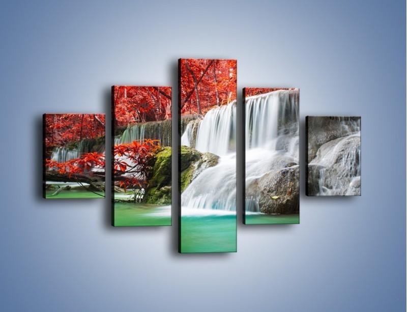 Obraz na płótnie – Zachwycić się naturą – pięcioczęściowy KN1250AW1