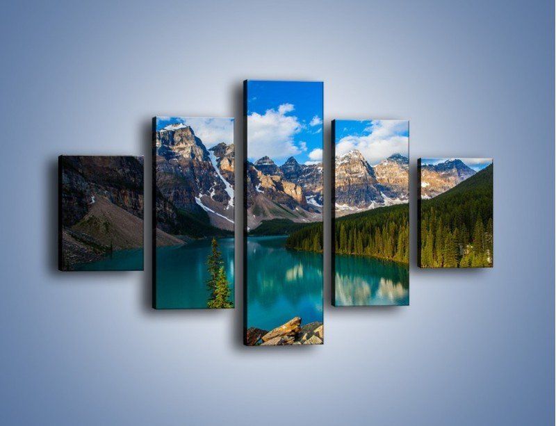 Obraz na płótnie – Spokój w górach – pięcioczęściowy KN1258AW1