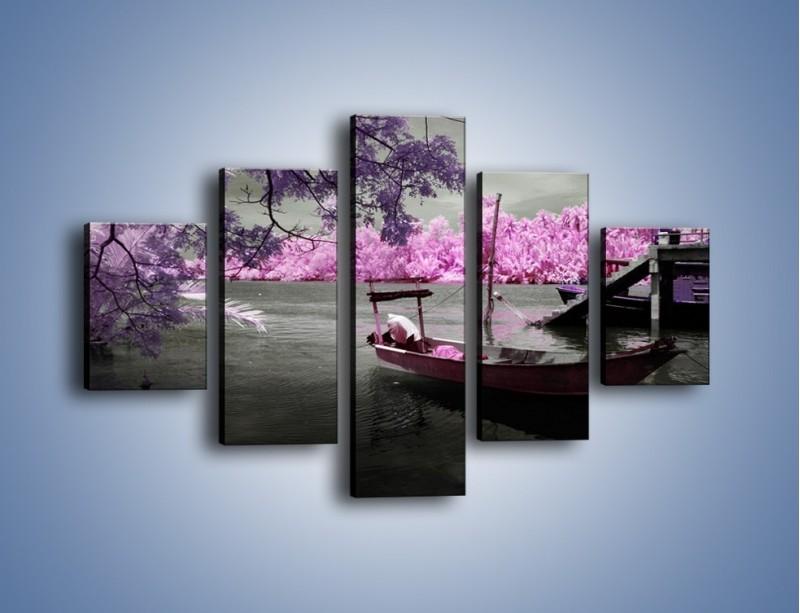 Obraz na płótnie – Krajobraz jak z japonii – pięcioczęściowy KN1277AW1