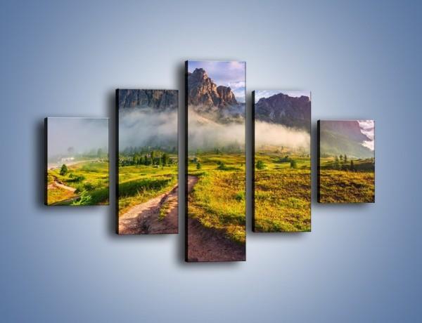 Obraz na płótnie – Góry ubrane w mgłę – pięcioczęściowy KN1282AW1