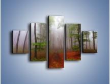 Obraz na płótnie – Budzący się lasek – pięcioczęściowy KN1285AW1