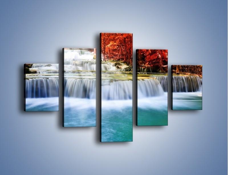 Obraz na płótnie – Jak przyjemnie nad wodą – pięcioczęściowy KN1291AW1
