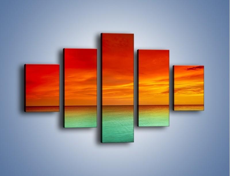 Obraz na płótnie – Horyzont w kolorach tęczy – pięcioczęściowy KN1303AW1