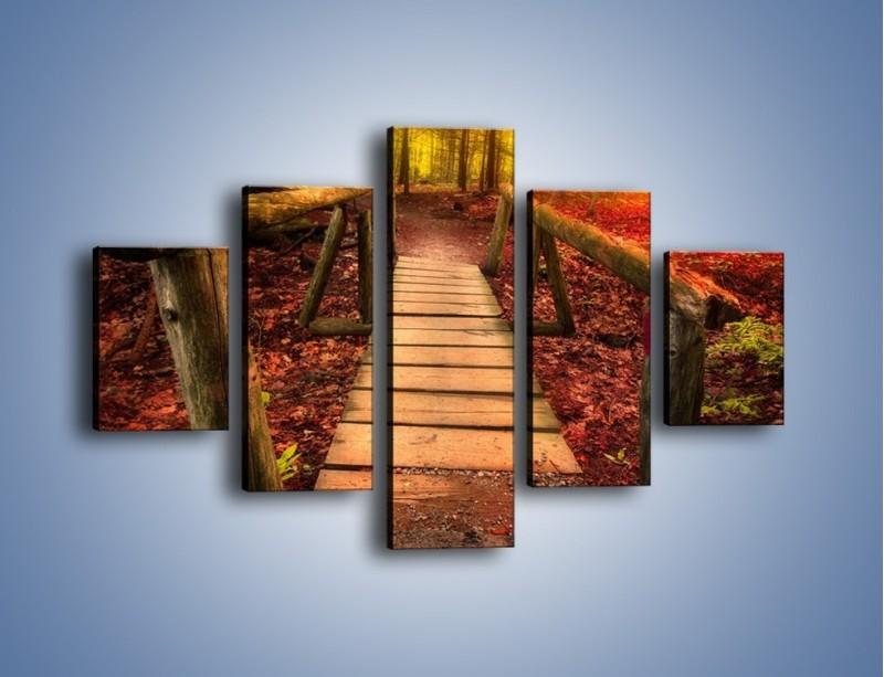 Obraz na płótnie – Krótkie przejście przez las – pięcioczęściowy KN1330AW1