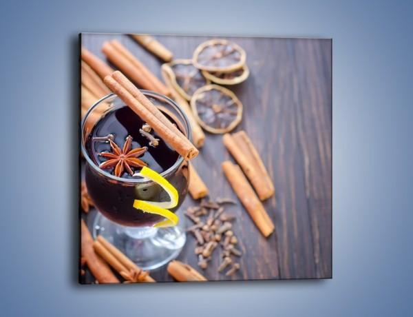 Obraz na płótnie – Grzaniec z cynamonem i i goździkiem – jednoczęściowy kwadratowy JN622