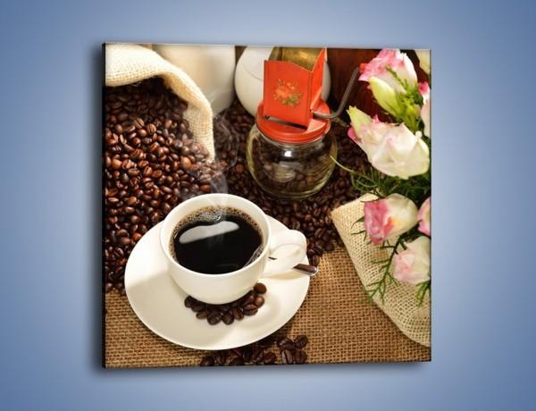 Obraz na płótnie – Kawa na przyjęciu – jednoczęściowy kwadratowy JN624