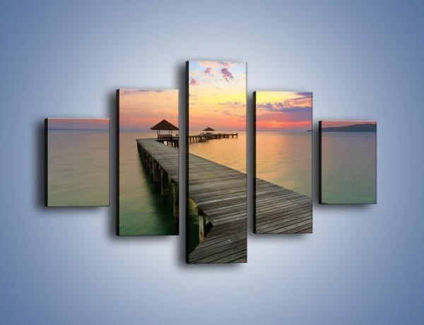 Obraz na płótnie – Krętym pomostem do morza – pięcioczęściowy KN327W1