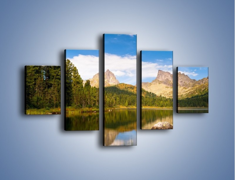 Obraz na płótnie – Widok nie tylko na góry – pięcioczęściowy KN401W1