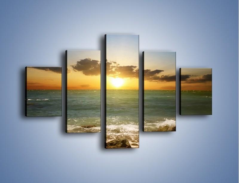 Obraz na płótnie – Kamienisty brzeg i jego spokój – pięcioczęściowy KN482W1