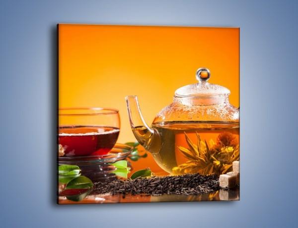 Obraz na płótnie – Dzbanuszek świeżej herbaty – jednoczęściowy kwadratowy JN626