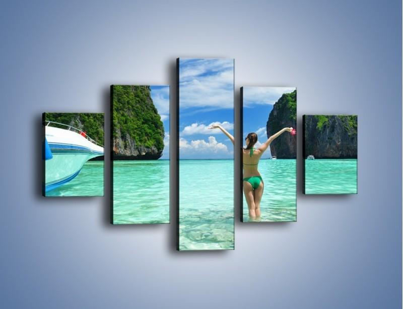 Obraz na płótnie – Udane wakacje w ciepłych krajach – pięcioczęściowy KN530W1