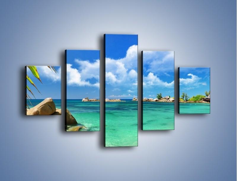 Obraz na płótnie – Tropikalna wyspa z katalogu – pięcioczęściowy KN565W1