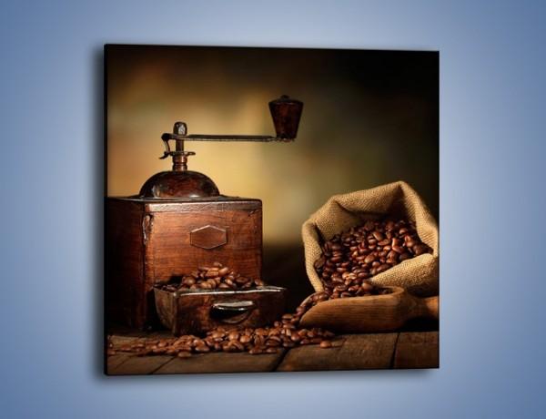 Obraz na płótnie – Młynek do kawy w cieniu – jednoczęściowy kwadratowy JN627