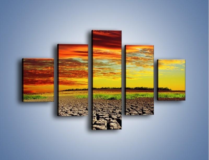 Obraz na płótnie – Spękane chmury i ziemia – pięcioczęściowy KN602W1
