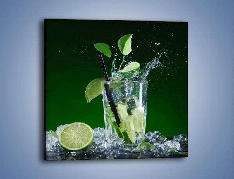 Obraz na płótnie – Limonka z lodem dla orzeźwienia – jednoczęściowy kwadratowy JN630