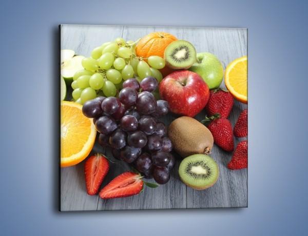 Obraz na płótnie – Idealna pora na owoce – jednoczęściowy kwadratowy JN631