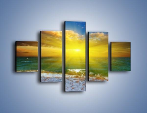 Obraz na płótnie – Mały krok do morza – pięcioczęściowy KN842W1