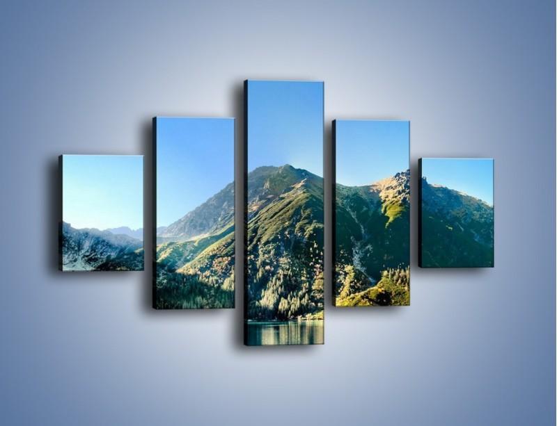 Obraz na płótnie – Chłodny klimat górski – pięcioczęściowy KN844W1
