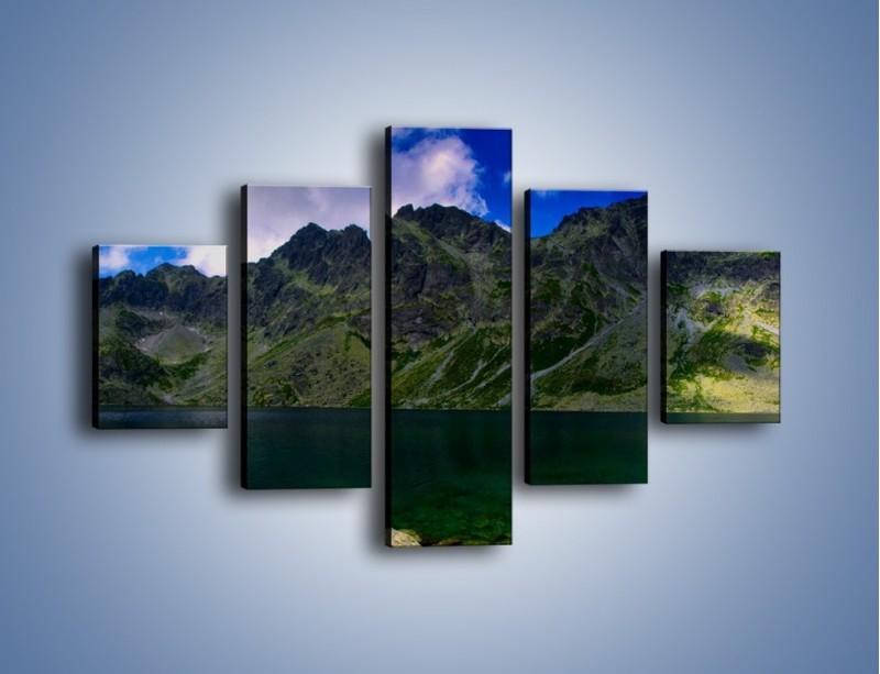 Obraz na płótnie – Horyzont górskich szczytów – pięcioczęściowy KN856W1