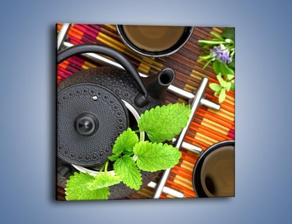 Obraz na płótnie – Dzbanek pełny herbacianych tajemnic – jednoczęściowy kwadratowy JN632