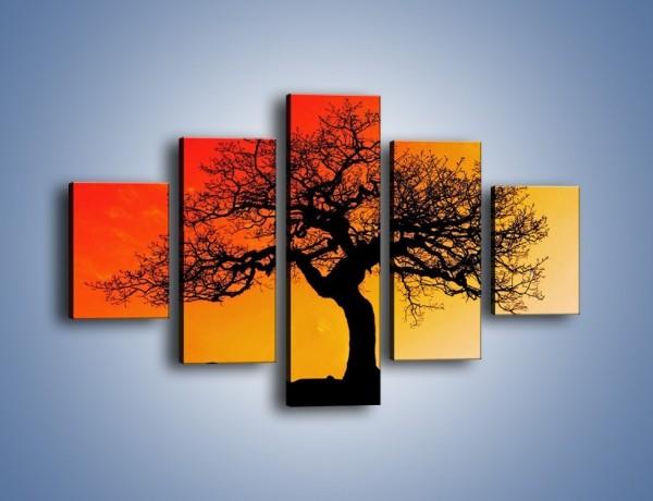 Obraz na płótnie – Drzewo nie koniecznie straszne – pięcioczęściowy KN864W1