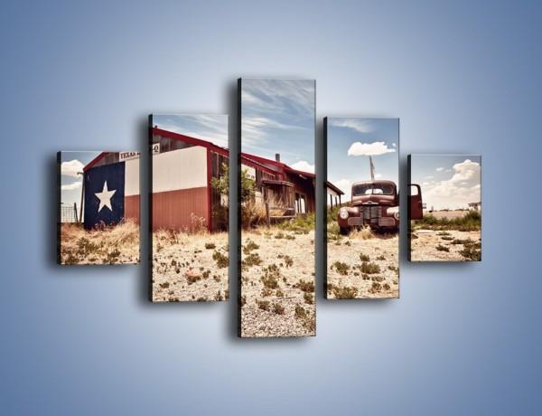 Obraz na płótnie – Autem przez texas – pięcioczęściowy KN874W1