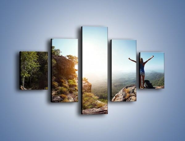 Obraz na płótnie – Wolność siła i piękno – pięcioczęściowy KN902W1
