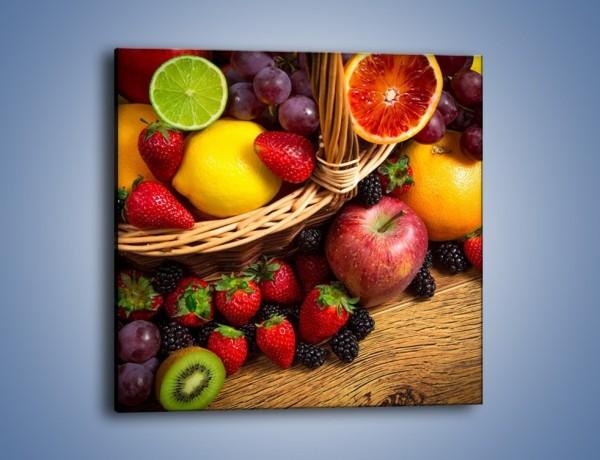 Obraz na płótnie – Kosz zatopiony w owocach – jednoczęściowy kwadratowy JN635
