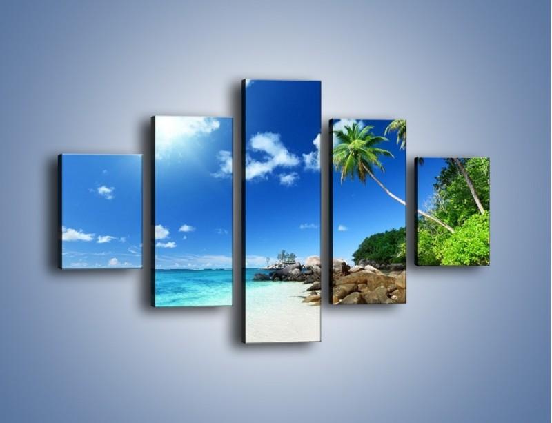 Obraz na płótnie – Rajska plaża i jej piękno – pięcioczęściowy KN963W1