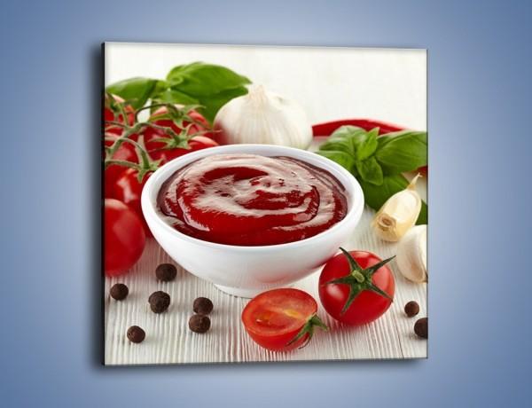 Obraz na płótnie – Pomidorowy przecier do sosów – jednoczęściowy kwadratowy JN636